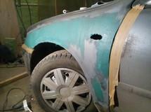 Восстановление крыла - Мазда 626