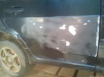 Рихтовка и покраска двери - ВАЗ 2114